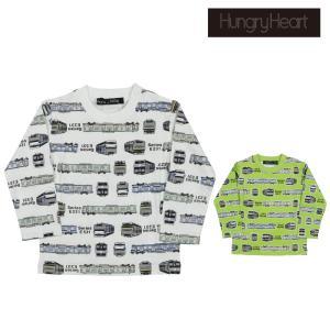 【子供服】 Hungry Heart (ハングリーハート) 日本製JR在来線電車ボーダー柄Tシャツ 90cm〜130cm S10823|marutaka-iryo