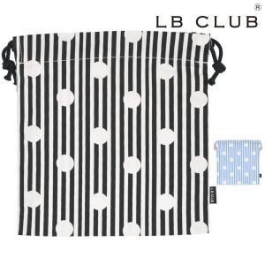 【子供服】 LB CLUB (エルビークラブ) 水玉ストライプ柄巾着・きんちゃく袋・コップ袋・小サイズ S13651|marutaka-iryo