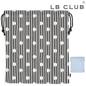 【子供服】 LB CLUB (エルビークラブ) 水玉ストライプ柄巾着・きんちゃく袋・体操着袋・大サイズ S13652|marutaka-iryo