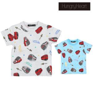 【子供服】 Hungry Heart (ハングリーハート) 日本製名鉄電車総柄Tシャツ 90cm〜130cm S30836|marutaka-iryo