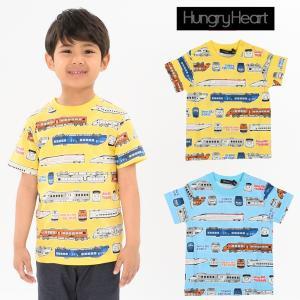 【子供服】 Hungry Heart (ハングリーハート) 日本製JR九州電車総柄Tシャツ 90cm〜130cm S30842|marutaka-iryo