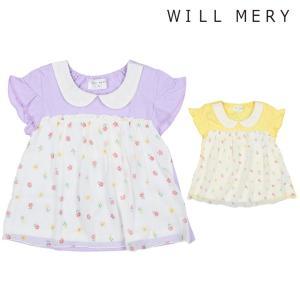 f533cde0024b9  子供服  Will Mery (ウィルメリー) 小花柄シフォン切替衿付きTシャツ 80cm〜130cm S40851