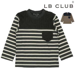 SALE 子供服 LB CLUB(エルビークラブ) ニット切替ボーダーTシャツ 80cm〜140cm S50850|marutaka-iryo