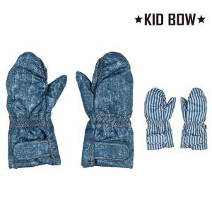 【子供服】 KID BOW (キッドバウ) 防水加工エステル2柄込み手袋・グローブ S,M S97805|marutaka-iryo
