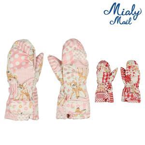 【子供服】 Miary mail (ミアリーメール) エステルバンビといちご柄手袋・グローブ S,M S97809|marutaka-iryo
