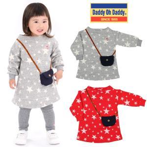 【子供服】 Daddy Oh Daddy (ダディオダディ) 日本製モックネックポシェットワンピース 80cm〜130cm V10300|marutaka-iryo