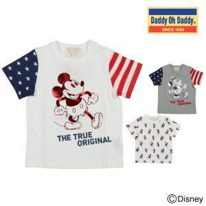 【子供服】 Daddy Oh Daddy (ダディオダディ) ミッキーデザインTシャツ 80cm〜150cm V30860|marutaka-iryo