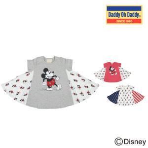 【子供服】 Daddy Oh Daddy (ダディオダディ) ミッキーデザインチュニックTシャツ 80cm〜150cm V30861|marutaka-iryo