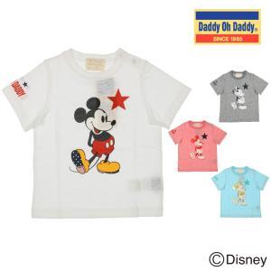 【子供服】 Daddy Oh Daddy (ダディオダディ) 日本製ミッキーデザインプリントTシャツ 80cm〜150cm V30872|marutaka-iryo