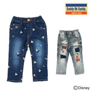 【子供服】 Daddy Oh Daddy (ダディオダディ) ミッキーデザインデニムパンツ 80cm〜150cm V31060|marutaka-iryo