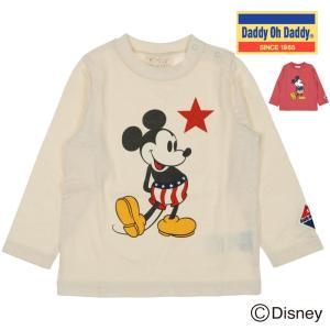 【子供服】 Daddy Oh Daddy (ダディオダディ) ミッキーデザインプリントTシャツ 80cm〜150cm V50871|marutaka-iryo