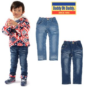 SALE 子供服 Daddy Oh Daddy (ダディオダディ) デニムニット裏ボアパンツ 80cm〜150cm V51035|marutaka-iryo
