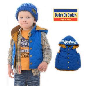 【子供服】 Daddy Oh Daddy (ダディオダディ) フード取り外し星キルトベスト 80cm〜150cm V56210|marutaka-iryo