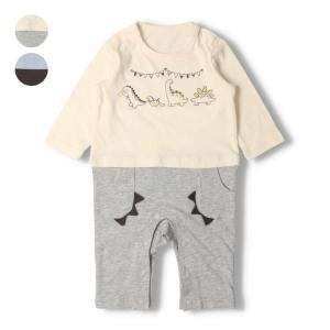 【子供服】 kids zoo (キッズズー) スムースくまTオール・ロンパース 70cm,80cm W10701|marutaka-iryo