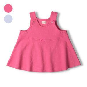 【子供服】 kids zoo (キッズズー) 花柄・ストライプ柄刺繍入りチュニックワンピース 70cm〜95cm W20301|marutaka-iryo