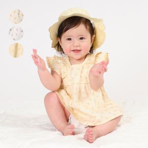 【子供服】 kids zoo (キッズズー) 花柄袴風Tオール 70cm,80cm W26703|marutaka-iryo