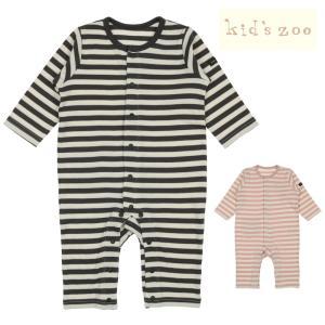 【子供服】 kids zoo (キッズズー) ボーダーTオール・ロンパース 70cm,80cm W50705|marutaka-iryo