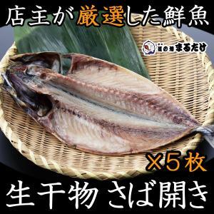 干物 詰め合わせ さば開き 5枚 生干物セット 千葉県産 マサバ 鯖|marutake-netshop