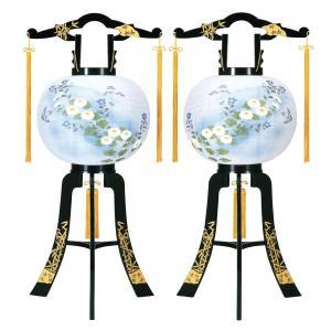 盆提灯 置き型提灯 廻転灯  あかり 竹蒔絵 対絵 (一対入り) 12号  一対 プラスチック製 電気コード式 回転灯 (回転 筒付き) marutomi-a