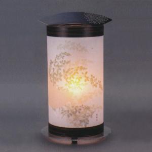 盆提灯 ANDON ANDON M 彩色に萩 ワーロン和紙 30号 木製 電気コード式|marutomi-a