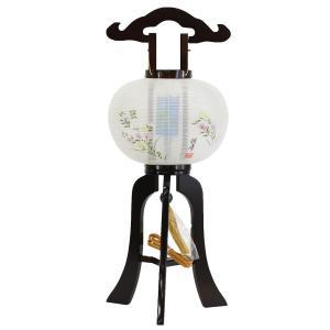盆提灯 置き型提灯 廻転灯  マグネット式 涼仙 回転 絹張 ブラウン色塗 9号  絹 木製 回転灯 (回転 筒付き) 簡単組立 磁石 マグネット式 marutomi-a