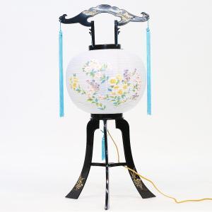 盆提灯 置き型提灯 廻転灯  みふゆ回転 11号  プラスチック製 電気コード式 回転灯 (回転 筒付き) marutomi-a