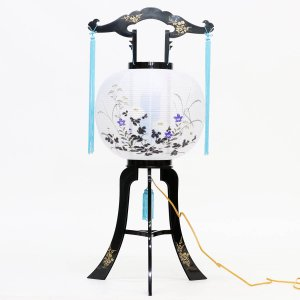 盆提灯 置き型提灯 廻転灯  正木回転 11号  プラスチック製 電気コード式 回転灯 (回転 筒付き) marutomi-a