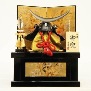 五月人形 伯峰作 兜収納飾り 10号 伊達 |marutomi-a