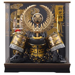 五月人形 兜 藤翁 着用兜ケース飾り 着用 徳川 S型 徳川家康 兜飾り アクリルケース飾り ケース入り コンパクト おしゃれ marutomi-a