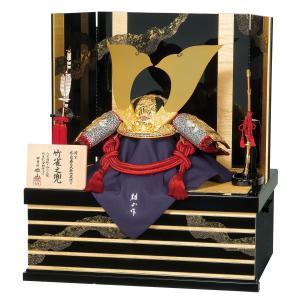 五月人形 兜 平安豊久 兜収納飾り 雄山作 竹雀之兜 兜収納飾り おしゃれ|marutomi-a