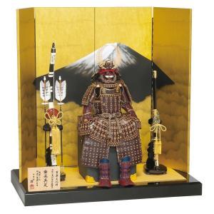五月人形 鎧 平安豊久 鎧飾り 雄山作 徳川家康 牛革小札 鎧飾り おしゃれ marutomi-a
