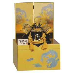 五月人形 兜 平安豊久 兜収納飾り 黄金徳川 徳川家康 兜収納飾り コンパクト おしゃれ|marutomi-a