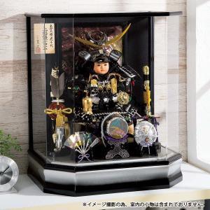 五月人形 平安豊久 子供大将 ケース飾り 上杉謙信 子供大将 アクリルケース飾り ケース入り コンパクト おしゃれ|marutomi-a