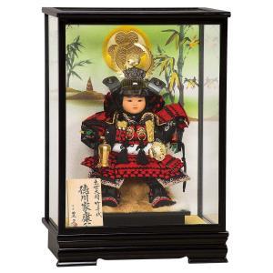 五月人形 平安豊久 子供大将 ケース飾り 出世大将 徳川 子供大将 ガラスケース飾り ケース入り コンパクト おしゃれ|marutomi-a