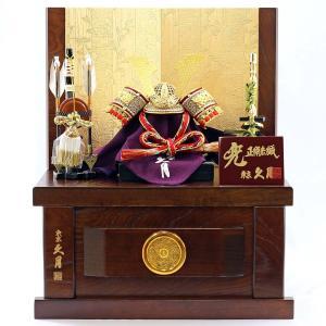 五月人形 兜 兜収納飾り 久月 白糸肩赤縅 兜 収納飾り コンパクト おしゃれ|marutomi-a