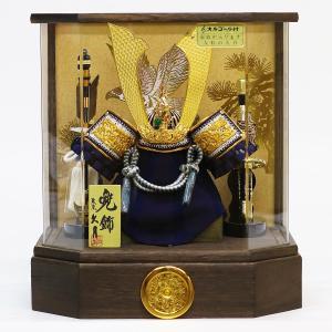 五月人形 兜 兜ケース飾り 久月 10号 兜飾り 取付ケース入り アクリルケース オルゴール付 ケース入り コンパクト おしゃれ marutomi-a