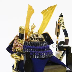 五月人形 兜 兜ケース飾り 久月 10号 兜飾り 取付ケース入り アクリルケース オルゴール付 ケース入り コンパクト おしゃれ marutomi-a 05