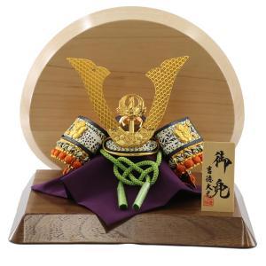 五月人形 兜 吉徳 吉徳大光 兜飾り 兜飾り 豆 総大将 高級木材使用飾り台・衝立 コンパクト おしゃれ|marutomi-a