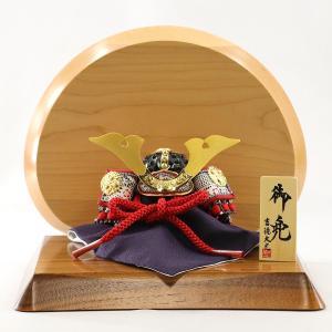 五月人形 兜 吉徳 吉徳大光 兜飾り 豆8号 兜 大鍬形 高級木材使用台屏風 コンパクト おしゃれ|marutomi-a