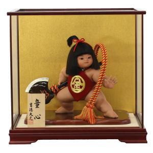 五月人形 吉徳 吉徳大光 金太郎飾り 金太郎 10号 ケース入り 「童心」 コンパクト おしゃれ|marutomi-a