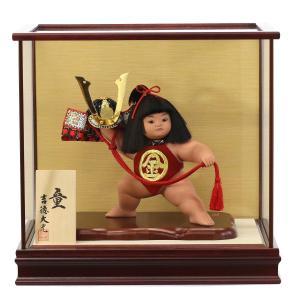 五月人形 吉徳 吉徳大光 金太郎飾り 金太郎 8号 ケース入り 「童(兜持ち)」 コンパクト おしゃれ|marutomi-a