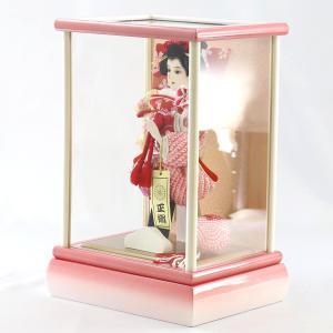 羽子板 お祝い 初正月 7号 宴 パール白木/パールピンクケース ミニ コンパクト marutomi-a 02