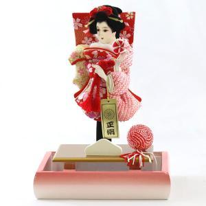 羽子板 お祝い 初正月 7号 宴 パール白木/パールピンクケース ミニ コンパクト marutomi-a 04