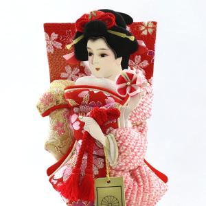 羽子板 お祝い 初正月 7号 宴 パール白木/パールピンクケース ミニ コンパクト marutomi-a 05