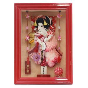 羽子板 お祝い 初正月 8号 壁掛け 額飾り 京彩 赤塗り つるし飾り付き ミニ コンパクト|marutomi-a