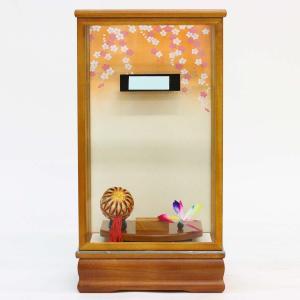 羽子板 お祝い 初正月 11号 10〜11号用 淡茶飾りケース ミニ コンパクト|marutomi-a