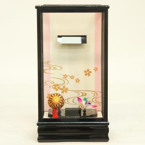 羽子板 お祝い 初正月 11号 10〜11号用 黒塗り飾りケース ミニ コンパクト|marutomi-a