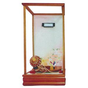 羽子板 お祝い 初正月 13号 13号用 淡茶飾りケース ミニ コンパクト|marutomi-a