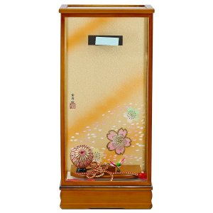 羽子板 お祝い 初正月 15号 15号用 淡茶飾りケース ミニ コンパクト|marutomi-a