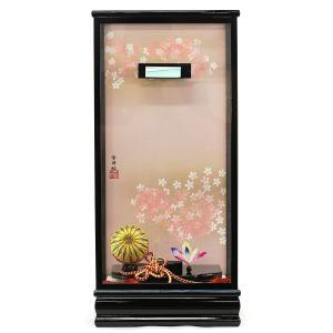 羽子板 お祝い 初正月 15号 15号用 黒塗り飾りケース ミニ コンパクト|marutomi-a